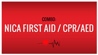 NICA First Aid + CPR/AED Combo 04/05/20